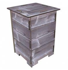Le tabouret / table d'appoint en bois, Ancien