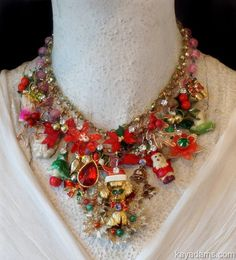 L4796 [L4796] - $0.00 : Kay Adams, Anthill Antiques, Jewelry and Chandelier Heaven, kitschy xmas necklace, joyful jewelry, how much is that doggie in the window #gottagettakay