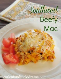 Southwest Beefy Mac. Beefy mac and cheese made with queso and panko bread crumbs #ComfortFood #macandcheese