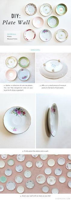 For a vintage-inspired style, we love the idea of displaying vintage plates on the wall. See how we did it on the blog!
