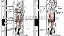 Cable vertical Pallof press exercise