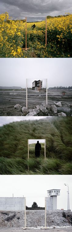 Beyond and Behind (Mirrors in Industrial and Natural Landscapes) -  Guillaume Amat