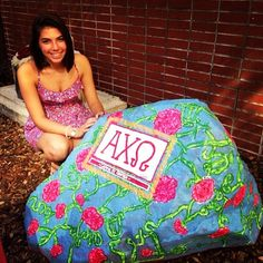 lilly pulitzer •ΑΧΩ painted rock <3