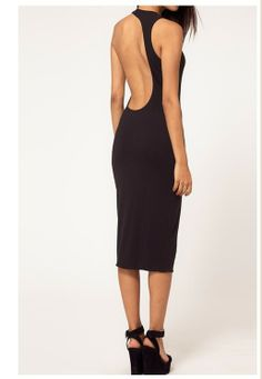 WIIPU sexy cocktail party evening club wear open back midi Dress (black) Club Party Dresses, Black Party Dresses, Party Dresses For Women, Dresses For Work, Dress Work, Seersucker Dress, Clubwear, Evening Dresses, Fashion Outfits