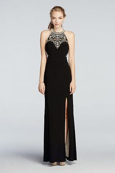 Beaded High Neck Cut