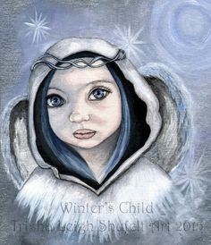 Winter's Child (c) Trisha Leigh Shufelt 2015 https://www.etsy.com/listing/212306183/original-painting-angel-winters-child?ref=shop_home_feat_2