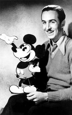 Walt Disney and his son, Mickey Mouse, I was in the 6th grade when he died, I thought there would be no more cartoons.