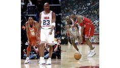 "Michael Jordan on J's 10 vs. Kobe on Js III ""True Blue"" All Star Game 2003"