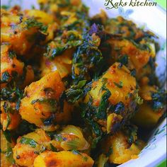 Learn how to make South Indian recipes, North Indian recipes and eggless baking recipes with step by step pictures and videos! Aloo Methi Recipe, Methi Recipes, Veg Recipes, Curry Recipes, Cooking Recipes, Healthy Recipes, Potato Recipes, Chaat Recipe, Vegetarian Cooking