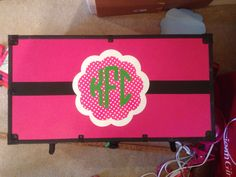 Camp trunk monogrammed with vinyl