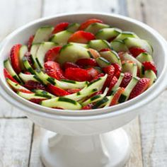 Honey Balsamic #Cucumber Salad. Perfect for #spring, #summer and mother's day!