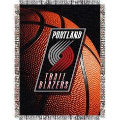Portland Trail Blazers NBA Woven Tapestry Throw (48x60)
