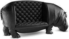 If you want a hippopotamus for Christmas, this sofa is the one. The piece has no sections or partition to preserve the life-size model. Check out the other animals in this artist's collection.      By Máximo Riera. max-riera.squarespace.com      - Veranda.com