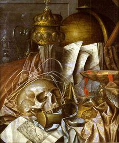 GYSBRECHTS Cornelis Norbertus - Actif à Anvers vers 1660 et à Copenhague vers 1670 - Vanité - peinture