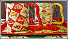When Saturday was baking day_how fun, if today's kitchen utilities were so decorated!