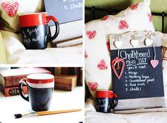 DYI chalkboard paint mug! cute idea!!