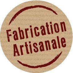 """Etiquette imprimée """"fabrication artisanale"""" - Ø 3 cm-x 500"""