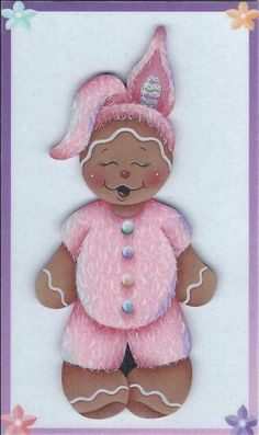 Ginger Bunny Gingerbread Painting E-Pattern