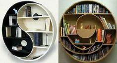 Bibliothèques réalisées en carton... Bookshelves, Bookcase, Book Storage, Getting Organized, Ideas Para, Yin Yang, Cases, Furniture, Tips