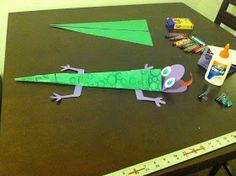 Art With Ms M: Construction Paper Lizards! The Fold Line, Glue Dots, Pinterest Pin, Construction Paper, Lizards, Ms, Frozen, Students, Link
