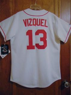 5accd4a163f ... Details about RARE VINTAGE 2000 MAJESTIC CLEVELAND INDIANS OMAR VIZQUEL  13 BASEBALL JERSEY NWT ...