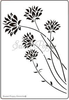 Sweet Poppy Stencil: Cornflowers