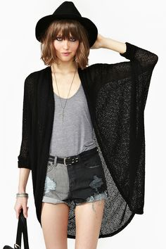 Comfort Zone Cardi - Black in Clothes at Nasty Gal