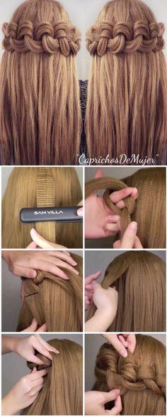 Crown Braided Hairstyle Tutorial