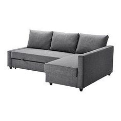 FRIHETEN Corner sofa-bed - Skiftebo dark grey - IKEA
