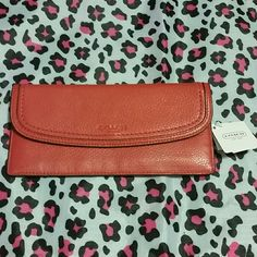 Red leather Coach wallet NWT Skinny wallet Coach Bags Wallets