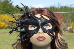 leather black spiral mask by TBTOBEDESIGNED1 on Etsy