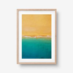 Catching a Wave Beach Print Beach Print, Birds Eye View, Office Ideas, Vibrant, Waves, Art Prints, Frame, Desk Ideas, A Frame