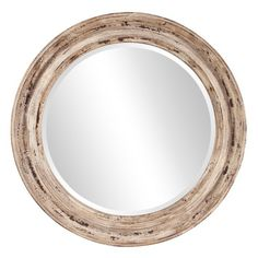 Howard Elliott 36 in. x 36 in. Maisey Rustic Round Mirror 92115 - The Home Depot Large Round Mirror, Circular Mirror, Round Wall Mirror, Beveled Mirror, Round Mirrors, Round Frame, Mirror Mirror, Mantel Mirrors, Rustic Mirrors