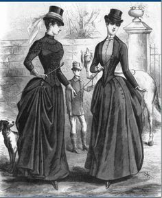 Deux tenues d'équitation