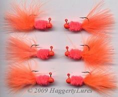 O Chenille jig - orange - fishing lure