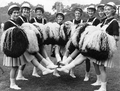"""5d0b610f4 PITTSBURGH STEELERS~Steelerettes — the Steelers  hard-hatted cheerleaders""""  They led the"""