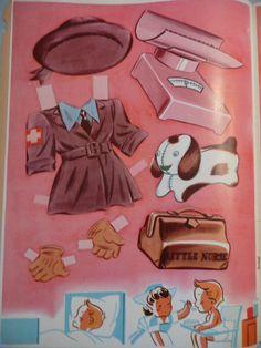 Little Doctor & Little Nurse Paper Dolls 1949~~