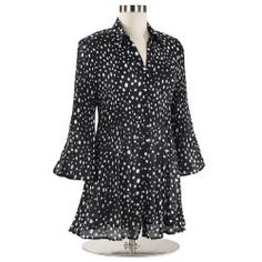 Scattered Dot Pleated Tunic