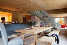 Bedroom in a chalet near Bern, Switzerland designed by Christina Seilern