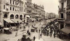 A Avenida Central, atual Rio Branco, foi um símbolo da reforma urbana no início do século XX - Marc Ferrez/Coleção Gilberto Ferrez/Acervo Instituto Moreira Salles