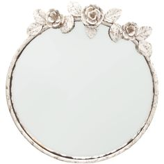 Zara Home Round Flowers Mirror ($60) ❤ liked on Polyvore featuring home, home decor, mirrors, decor, frame, white, circular mirrors, flower home decor, white round mirror and flower stem