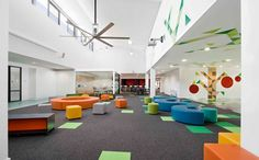 Charming Colorful School Design By Smith+Tracey: Schools With A Photo 2: St Mary's Primary School With Color Splashes.