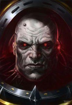 Fantasy Demon, Sci Fi Fantasy, Chaos 40k, Sons Of Horus, Warhammer 40k Art, Concept Weapons, The Grim, Geek Art, Space Marine