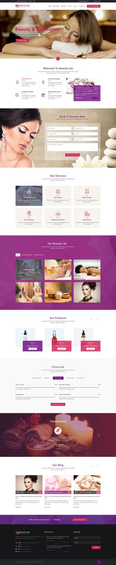Beauty Lab - Beauty & Spa PSD Template on Behance