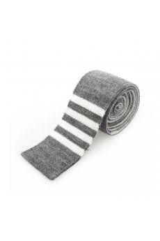 Wool Four Bar tie grey