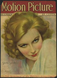 Greta Garbo on cover of Motion Picture Magazine, December 1927