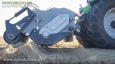 Road Recycler Machines negate the need for imported road base material for road construction www.soilsolutions.com