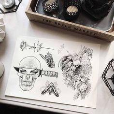 Skull tattoo by Uls Metzger