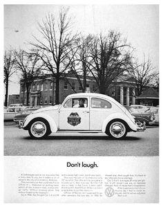 Don't laugh - Volkswagen - Bill Bernbach #ad #print