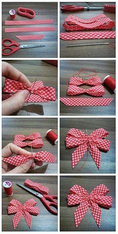 Shabby Chic Deko selber machen: Inspirierende Ideen und praktische Tipps - - New Ideas Ribbon Art, Diy Ribbon, Ribbon Crafts, Ribbon Bows, Fabric Crafts, Sewing Crafts, Diy Crafts, Ribbons, Bow From Ribbon